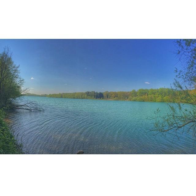 Blue sky, blue water