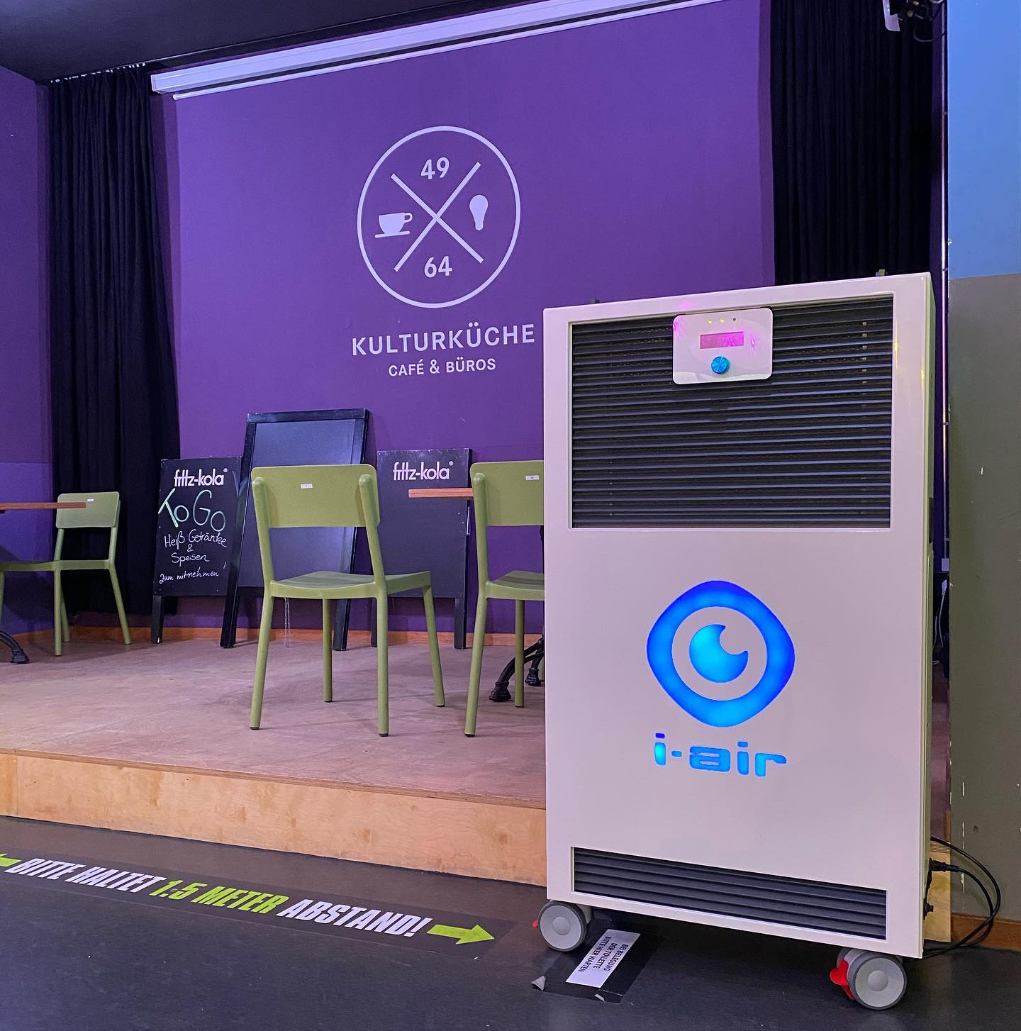 Saubere Luft in der Kulturküche  @kulturkueche @brodabrm