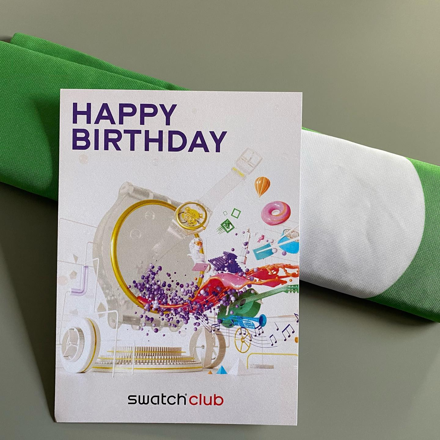 Bit later this time.  Thank you Swatch Club! @swatchclub