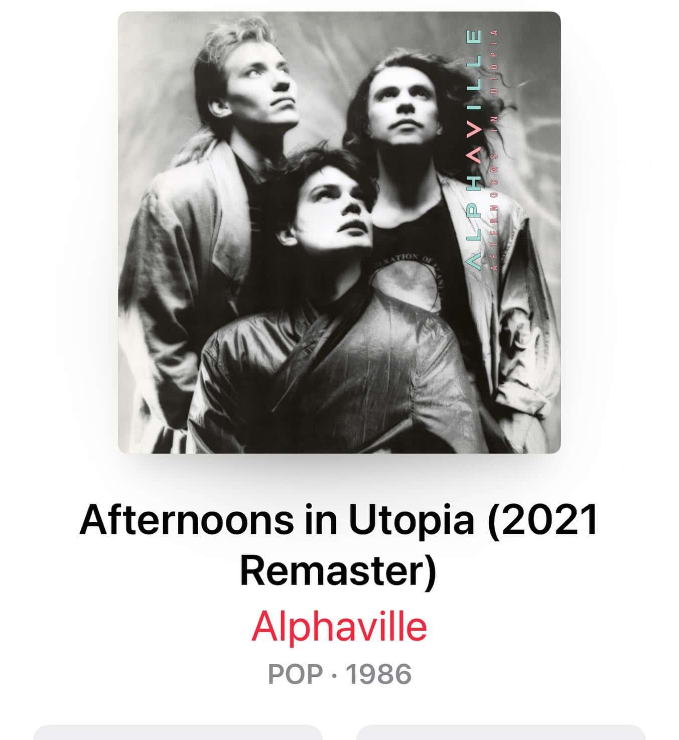 Old songs, new sound! I love it! Great job @alphaville.music @mariangold_official