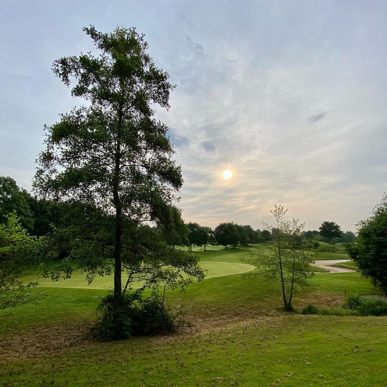 Golfrunde am Morgen mit Hasi @golfclub_wildenrath_e.v