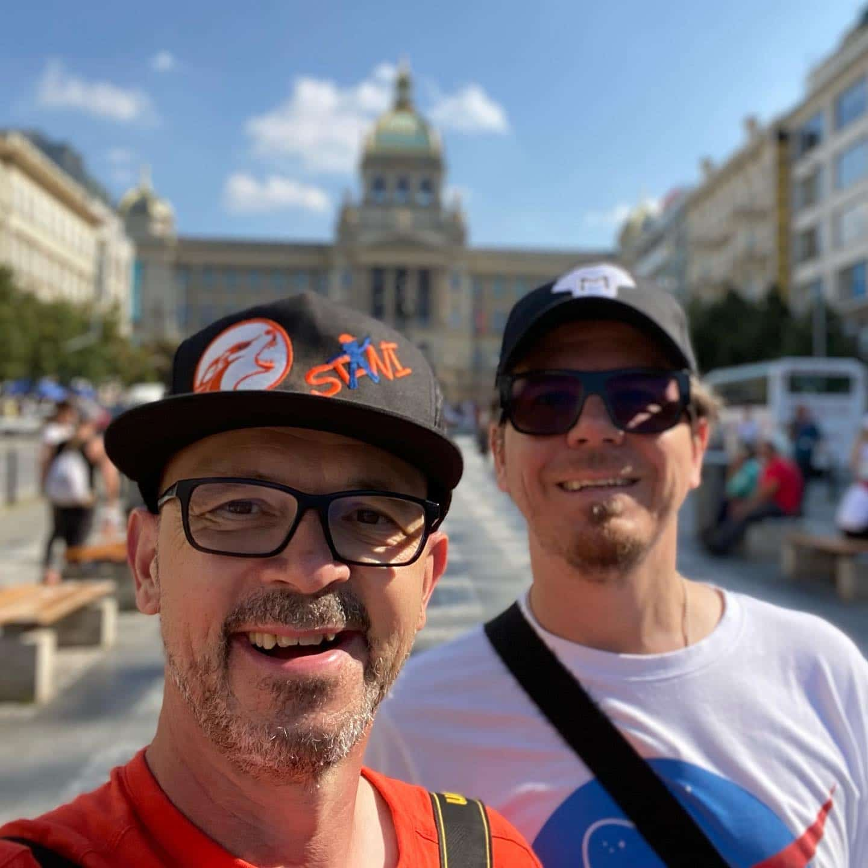 Two guys in Prague @bonzai74